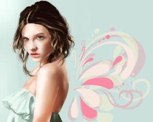 初期にSAIで描いた女性の絵