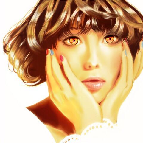 SAIで描いた肌が滑らかな女性の絵