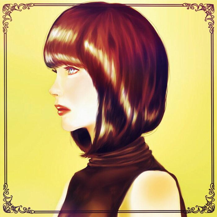 化粧品のイメージキャラみたいな女性3