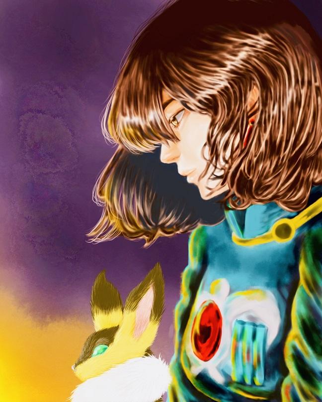 ナウシカとラピュタのアレンジイラスト|『灯を見つめるナウシカ』と『ロボット兵』