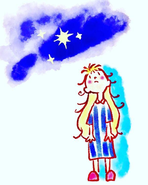 今まで描いたことのないようなメルヘンチックな絵|イメージは『星の王子さま』?