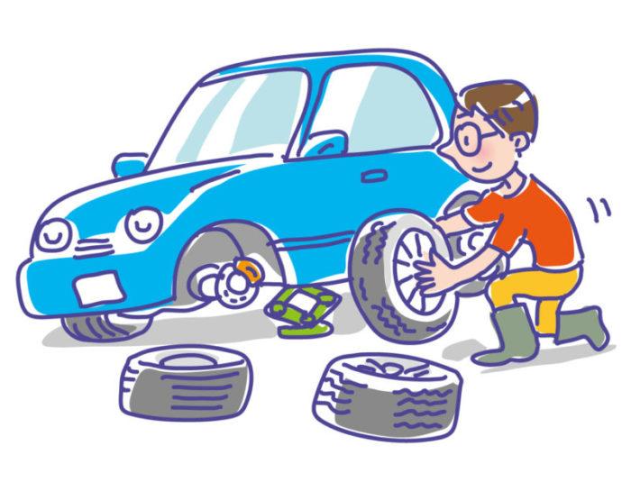 ワゴンRのタイヤを交換|輪止めだけ買えば車載の器具だけでも自分で簡単にできる!