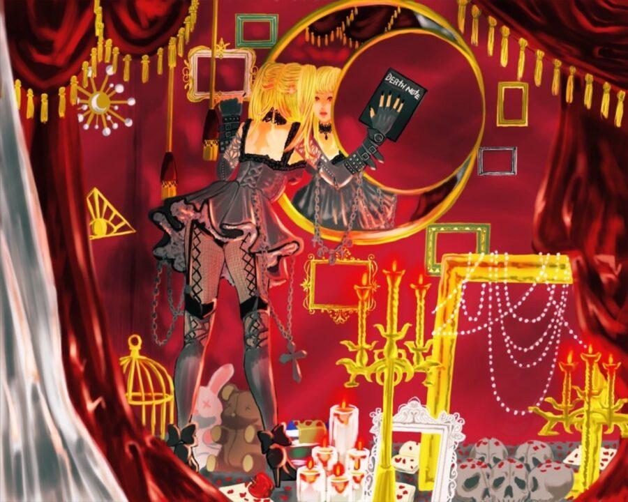 『デスノート(DEATH NOTE)』|第2のキラ、弥海砂(あまねミサ)が住む部屋をイメージしたイラスト