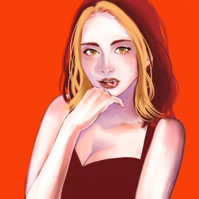 【赤】情熱的、エネルギッシュ、愛情、勝利をイメージした女性|色彩心理