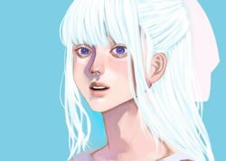 【水色】解放感、希望、自然体、繊細をイメージした女の子|色彩心理